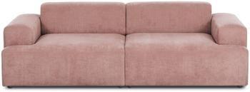 Canapé 3places velours côtelé rose Melva