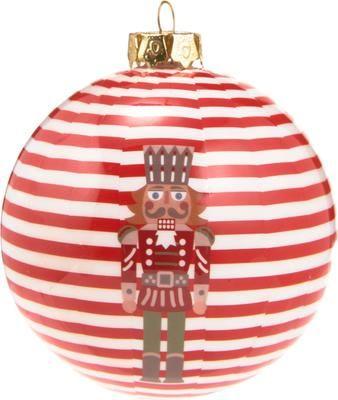 Breukvaste kerstballen Nut Ø 8 cm, 4 stuks