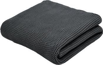 Plaid tricot coton bio gris foncé Adalyn