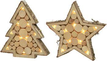 LED lichtobjectenset Woodo, 2-delig