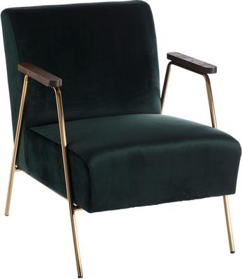 Fotel koktajlowy z aksamitu Bettina