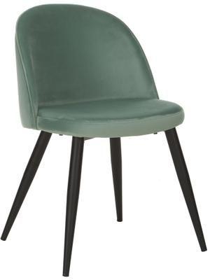 Chaise moderne en velours Amy, 2pièces