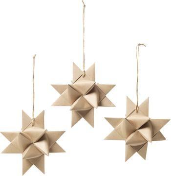 Kerstboomhanger Stars Ø 15 cm, 3 stuks