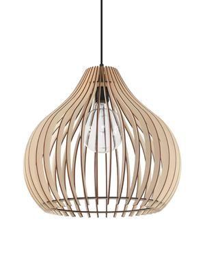 Lampada a sospensione in legno Pantilla