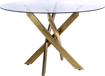 Mesa de comedor George, tablero de cristal