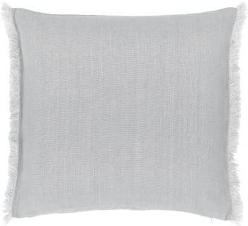 Housse de coussin pur lin gris clair Luana