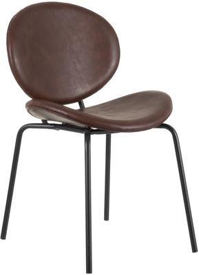 Krzesło tapicerowane ze sztucznej skóry Frankie