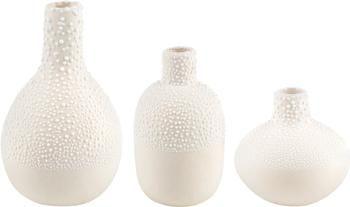 Petits vases blancs Perla, 3élém.