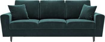 Sofa rozkładana z aksamitu z miejscem do przechowywania Moghan (3-osobowa)