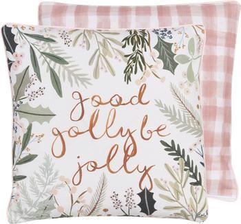 Housse de coussin 45x45 réversible Good Golly Be Jolly par Candice Gray