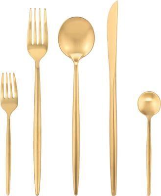Set posate dorate in acciaio inossidabile dorato Kaylah