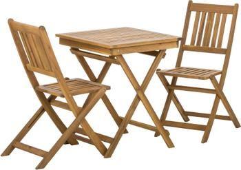 Muebles de madera de acacia para exterior Skyler, 3pzas.