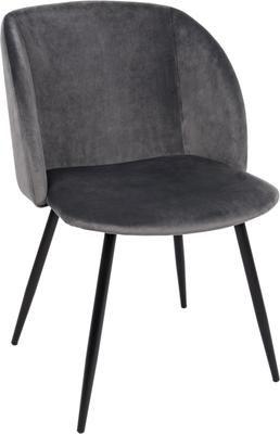 Krzesło tapicerowane z aksamitu Crown