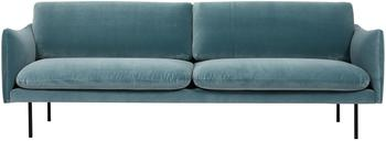 Canapé 3places velours turquoise Moby