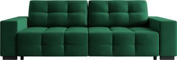 Divano letto 3 posti in velluto verde bottiglia Uvite