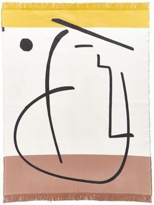 Teppich Goliath Gesicht mit Fransen und geometrischem Muster, 150x200cm