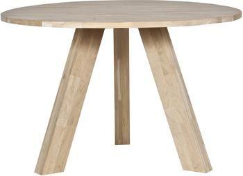 Mesa de comedor redonda de madera maciza Rhonda