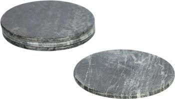 Sottobicchiere in marmo grigio Tressa 4 pz