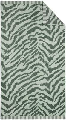 Strandtuch Belen mit Zebramuster in Grün