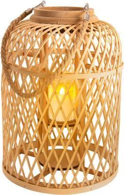 Candela solare a LED con cestino di bambù Korab