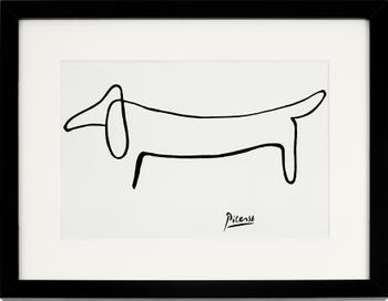 Stampa digitale incorniciata Picasso's Dackel