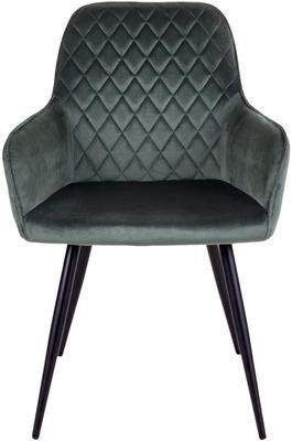 Krzesło z podłokietnikami z aksamitu Harbo, 2 szt.
