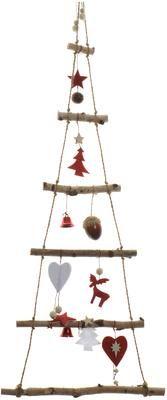 Groot wandobject Tree van berkenhout H 100 cm