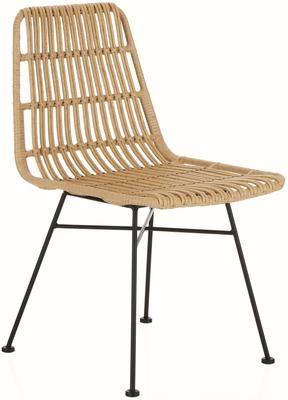 Polyratanová stolička Costa, 2 ks