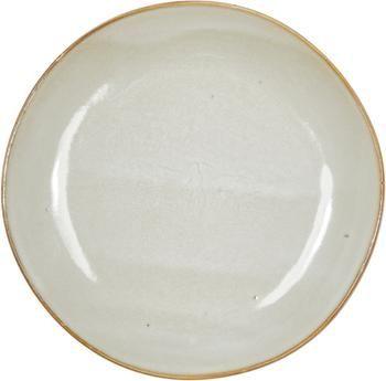 Piattino da dessert in gres beige fatto a mano Thalia 2 pz