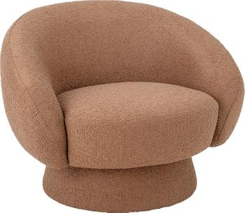 Fauteuil lounge brun Ted