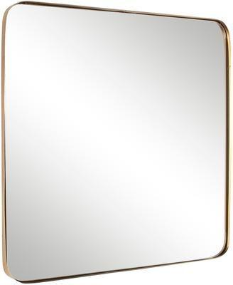 Nástěnné zrcadlo s kovovým rámem Adhira