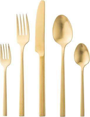 Set di posate dorate in acciaio inossidabile Shine