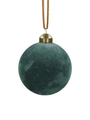 Fluwelen kerstballen fluweel Ø8cm, 4stuks