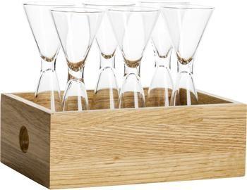 Set 7 bicchieri liquore in vetro soffiato con scatola Semon