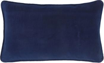 Effen fluwelen kussenhoes Dana in marineblauw