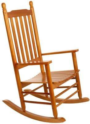 Sedia a dondolo in legno Pedro