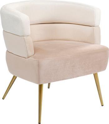 Fotel z aksamitu w stylu retro Sandwich