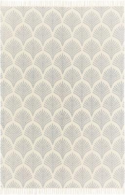Naplocho tkaný bavlněný koberec s třásněmi Klara