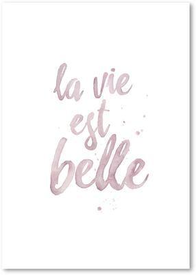 Póster La Vie Est Belle