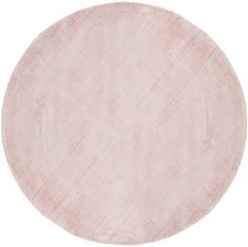 Rond handgeweven viscose vloerkleed Jane in roze