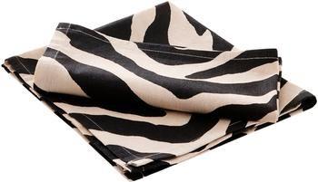 Tovagliolo di stoffa con stampa zebra Jill 2 pz