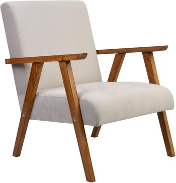 Fotel z aksamitu Victoria