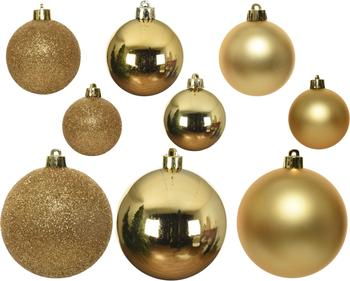 Breukvaste kerstballenset Mona, 30-delig