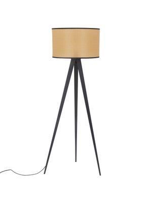 Lámpara de pie trípode con tejido vienés Vienna