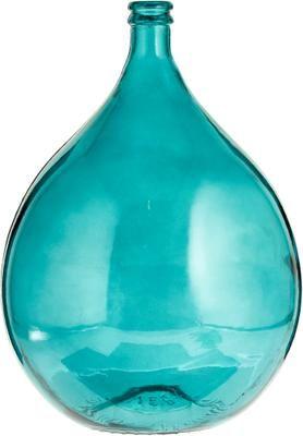 Vaso da terra in vetro riciclato Drop