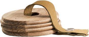 Posavaso de madera Strap, 4uds.