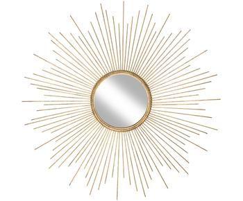 Espejo de pared redondo de metal Ella