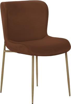 Chaise en velours rembourrée Tess