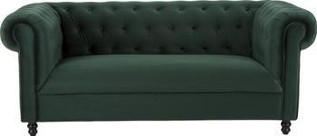 Sofa Chesterfield z aksamitu Chester (2-osobowa)