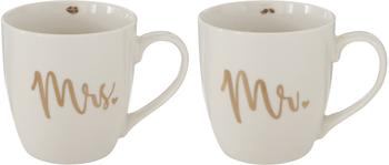 Set de tazas Mr Mrs, 2uds.